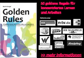 Golden Rules 50 goldene Regeln für konzentriertes Lernen und Arbeiten