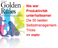 Selbstmanagement Tipps in den Golden Rules
