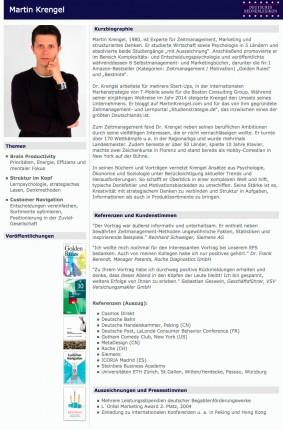Referent für Zeitmanagement, Marketing und Strukturiertes Denken Martin_Krengel - Rednerlexikon
