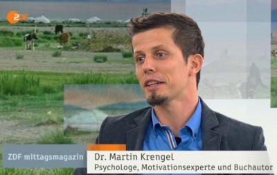 Dr. Martin Krengel beim ZDF - Er spricht über Zeit, Träume verwirklichen, Motivation, Reisen und Fokus