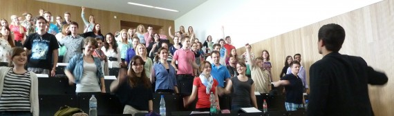 Vortrag mit Studenten interaktiv