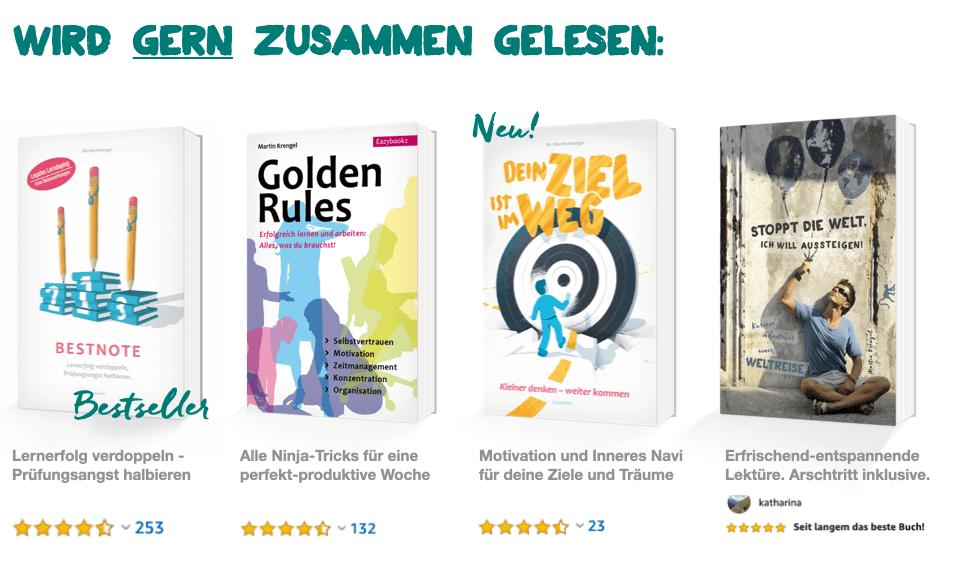 Bestseller Ratgeber Buch - Bücher Motivation - Zeitmanagement - Karriere - Stress - Burnout Prevention - Gelassenheit - Reisen - Weltreise - Dr Martin Krengel