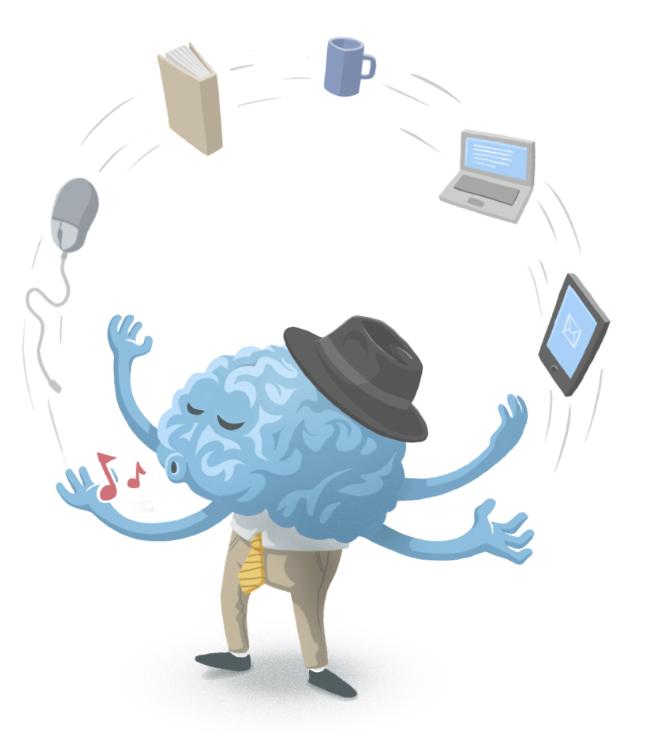 Gehirn in der Zuvielgesellschaft: Multitasking