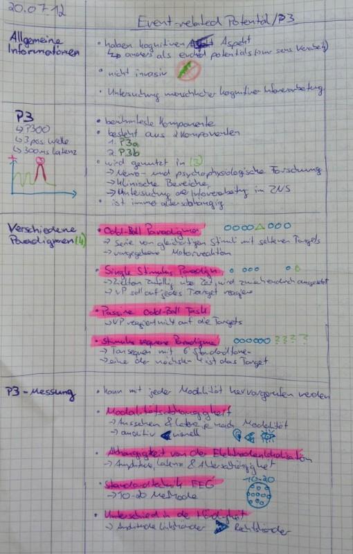 Beispiele aus Lernen Seminar