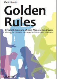 """Cover """"Golden Rules""""-motivierendes Selbstmanagementbuch"""