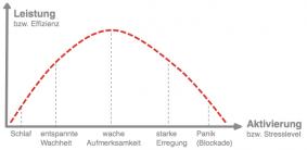 Flow-Prinzip Leistung bzw Effizienz vs. Aktivierung bzw. Stresslevel
