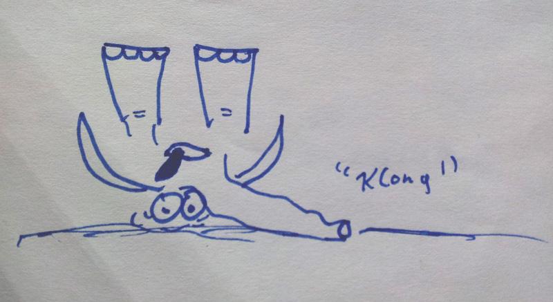 Prokrastination und Aufschieberitis: Elefant Zeichnung Klong