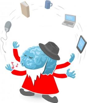 Weihnachtsmann Brian jongliert