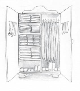 Kleiderschrank mit Ordnung - Ordnung mit System