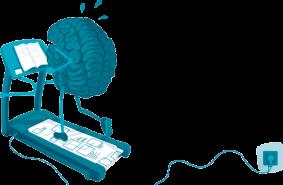 Gehirn-Laufband Anfangsschwung finden - richtig lernen mit der Bestnote