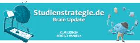 Studienstrategie Brain Update Newsletter für Konzentration, Motivation, Zeitmanagement und Lernmethoden