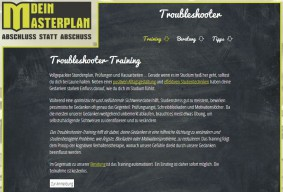 Dein Masterplan - Troubleshooter Training