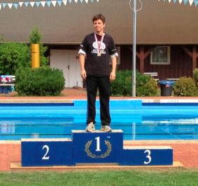 Martin mit Medaille