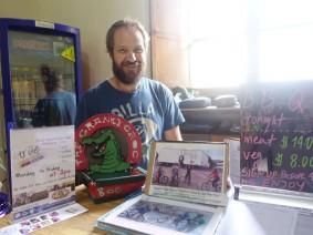 Andy - netter Besitzer des Hostels und der Sprachschule in Kolumbien