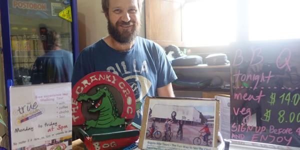 Andy – netter Besitzer des Hostels und der Sprachschule in Kolumbien