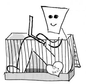 Auch in einer Kaninchenstall-Studentenbude kannst du den Platz optimal nutzen und dir Freiraum schaffen