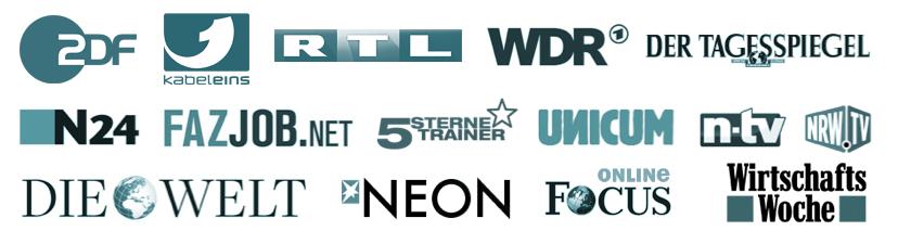 Die Techniken und Strategien aus dem Brain-Power-Paket sind bekannt durch ZDF, Kabel1, RTL und vielen weiteren Medien