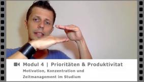 Modul 4 - Prios und Produktivität - Video-Kurs Motivation, Konzentration und Zeitmanagement im Studium - von Dr. Martin Krengel