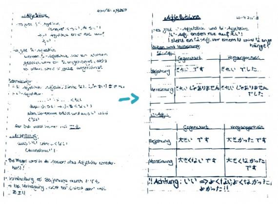 Notizen und Skripte sinnvoll strukturieren