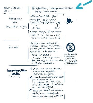 Sinnvoller Aufbau von Notizen und Skripten