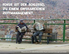 Motivationssprueche - Dinge motiviert Leben - Zitat und Spruch fuer Zeitmanagement Fokus - Motiviert Zeit und Planung anpacken - Motivationszitat von Zeitmanagementexperte Dr Martin Krengel