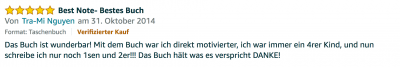 Erfahrungsbericht Lernkurs - Bestnote - Lernseminar - Lernratgeber - Buch Besser lernen - beste Lernmethode für Schueler und Studenten - Meinung - zu Martin Krengel 2