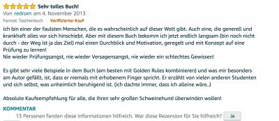 Erfahrungsbericht Lernkurs - Bestnote - Lernseminar - Lernratgeber - Buch Besser lernen - beste Lernmethode für Schueler und Studenten - Meinung - zu Martin Krengel.13
