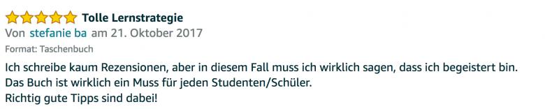Erfahrungsbericht Lernkurs - Bestnote - Lernseminar - Lernratgeber - Buch Besser lernen - beste Lernmethode für Schueler und Studenten - Meinung - zu Martin Krengel50.57