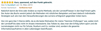 Rezension - Martin Krengel - Lerntipps - einfacher lesen und dinge verstehen und merken in Schule und Studium - Bestnote - Lernratgeber.07.11