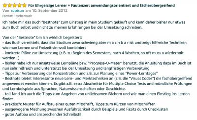 Rezension - Martin Krengel - Lerntipps - einfacher lesen und dinge verstehen und merken in Schule und Studium - Bestnote - Lernratgeber.09.40