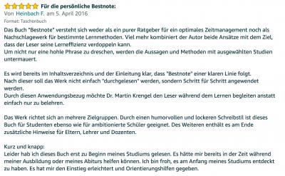 Rezension - Martin Krengel - Lerntipps - einfacher lesen und dinge verstehen und merken in Schule und Studium - Bestnote - Lernratgeber.14.31