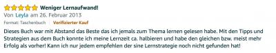 Rezension - Martin Krengel - Lerntipps - einfacher lesen und dinge verstehen und merken in Schule und Studium - Bestnote - Lernratgeber.16.10