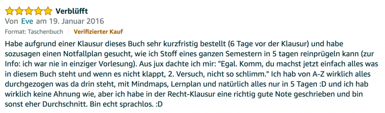 Rezension - Martin Krengel - Lerntipps - einfacher lesen und dinge verstehen und merken in Schule und Studium - Bestnote - Lernratgeber.17.28