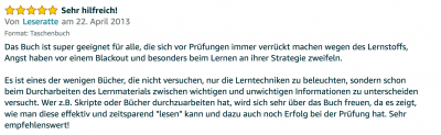 Rezension - Martin Krengel - Lerntipps - einfacher lesen und dinge verstehen und merken in Schule und Studium - Bestnote - Lernratgeber.25.14