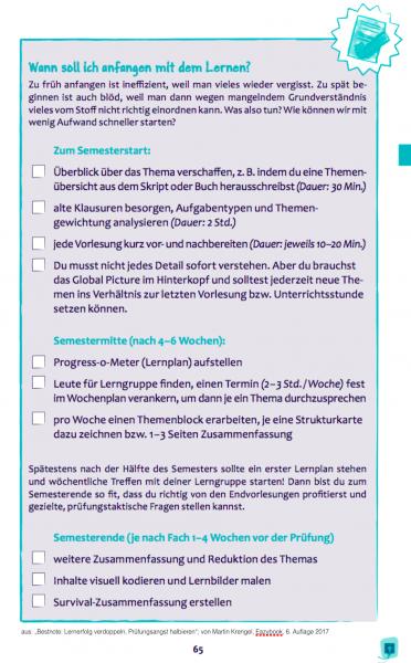 Checkliste für den perfekten Semesterstart - aus der Bestnote - Buch von Dr. Martin Krengel