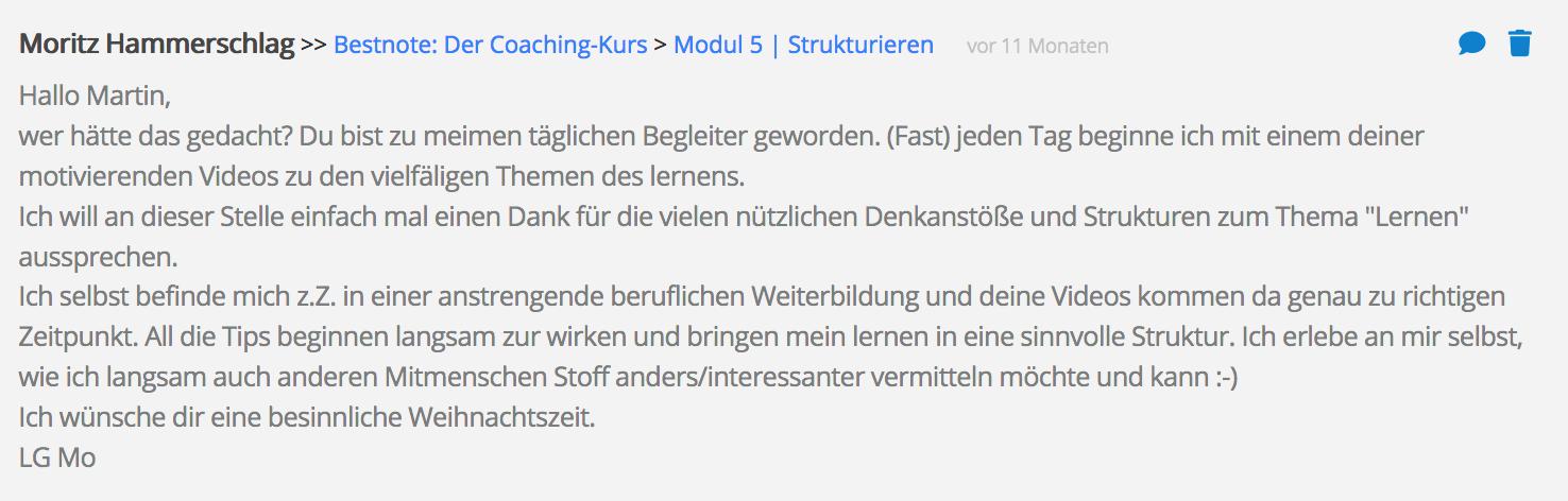 Bestnote Rezension Dr Martin Krengel Erfahrungsbericht Lernkurs - Lernseminar - Lernratgeber - Buch Besser lernen 1