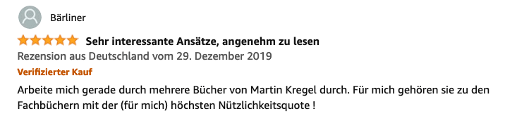 Motivationsbuch von Dr Martin Krengel - Rezension 1