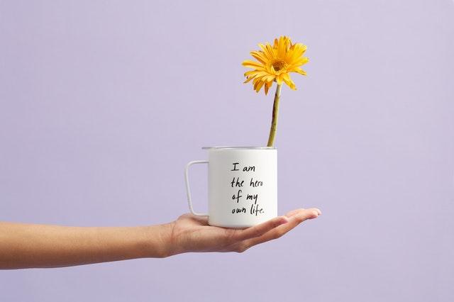 Motivation, Blume in Tasse