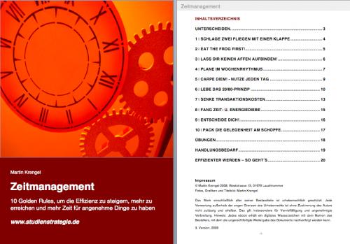 Inhaltsverzeichnis ebook ZEITMANAGEMENT