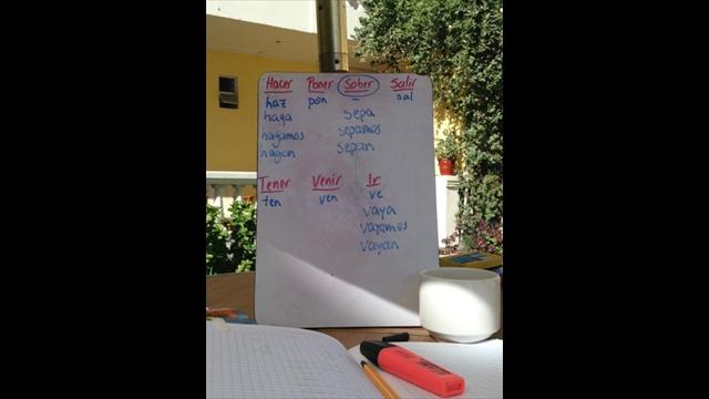 Spanische Konjugationen lernen